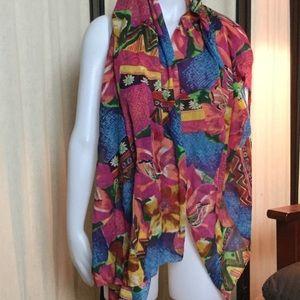 Large colorful scarf/shawl